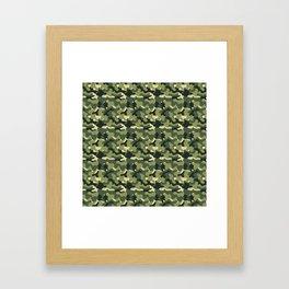 Forest camo 2 Framed Art Print