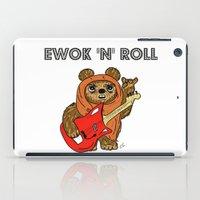 ewok iPad Cases featuring Ewok 'N' Roll by Trinity Bennett