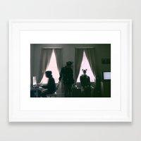 burgundy Framed Art Prints featuring Burgundy. by mr_iiozo