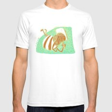 pride SMALL White Mens Fitted Tee