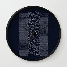 Furr Division Cats (Dark Blue) Wall Clock