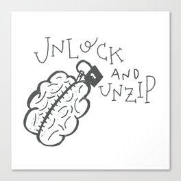 Unlock N Unzip Canvas Print