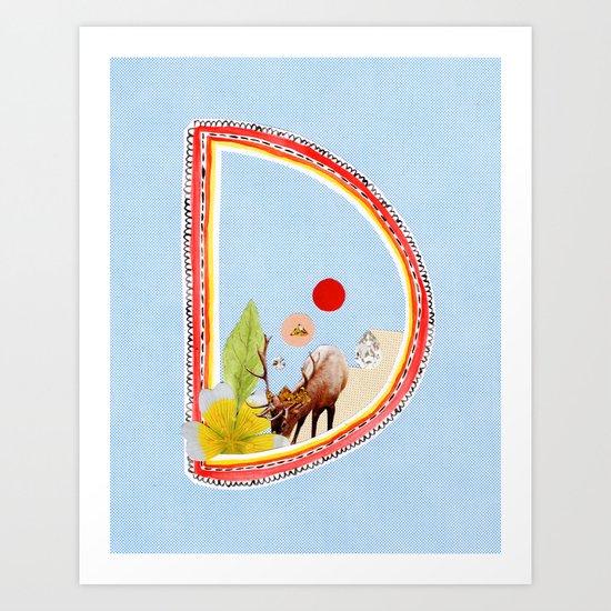 """A TO Z - """"D"""" Art Print"""