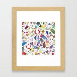 Buoy Collection Framed Art Print
