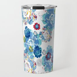 French script bouquet Travel Mug
