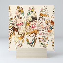 Sagittarius and Zodiac friends Mini Art Print