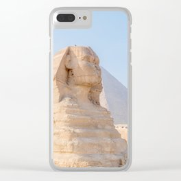 Famous Sphinx of Giza Egypt Cairo Clear iPhone Case