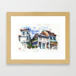 Shophouses  at Dickson Road, Little India Singapore. Framed Art Print