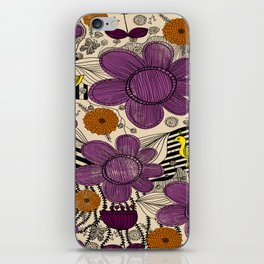 Floral Whimsical Bohemian Print iPhone Skin
