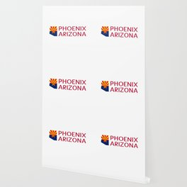 Arizona: Phoenix (State Shape & Flag) Wallpaper