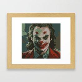 comic book villain paint Framed Art Print