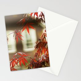 Urban Red Maple Stationery Cards