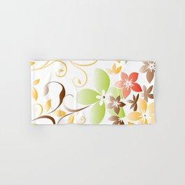 Flowers wall paper 5 Hand & Bath Towel