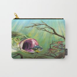 Large Mouth Bass and Clueless Blue Gill Fish Carry-All Pouch
