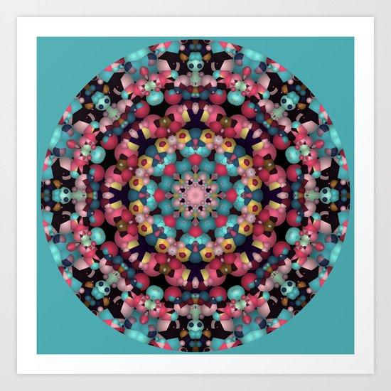 Spheres and Bubbles Mandala Art Print