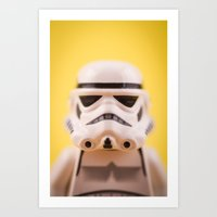 trooper Art Prints featuring Trooper by MrMarkCann