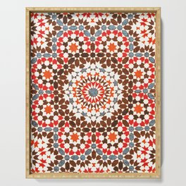 N64 - Traditional Geometric Moroccan Vintage Style Artwork Serving Tray