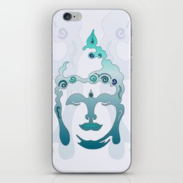 Buddha Head turquoise I iPhone Skin