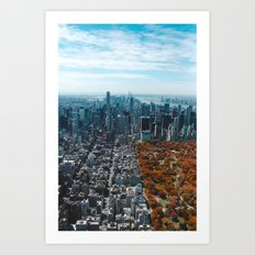 New York in Fall Art Print
