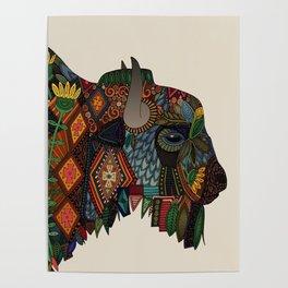 bison bone beige Poster
