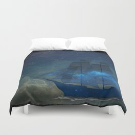 Ships and Stars Duvet Cover