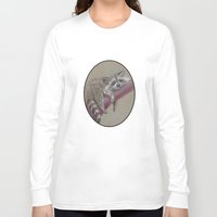 racoon Long Sleeve T-shirts featuring Racoon sleeping by Pendientera