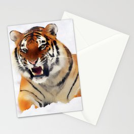 Snow Tiger Stationery Cards