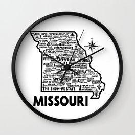 Missouri Map Wall Clock
