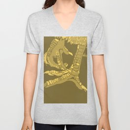 Two Untitled Chicken Feet in Yellow Unisex V-Neck