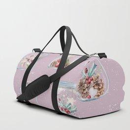 Christmas Pattern Pink Duffle Bag