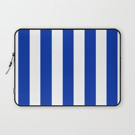 International Klein Blue - solid color - white vertical lines pattern Laptop Sleeve