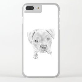 Staffordshire Terrier Puppy Clear iPhone Case