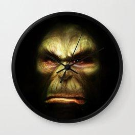 Orc face Wall Clock