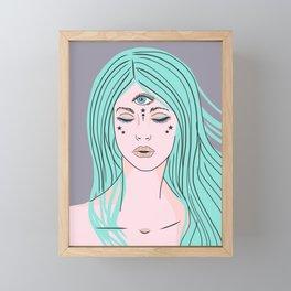 Close your Eyes Framed Mini Art Print