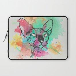 Watercolor Sphynx Laptop Sleeve
