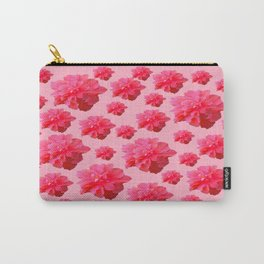 Decorative Tropical Pink Floral Pattern Art. Carry-All Pouch