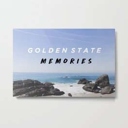 Golden State Memories at Laguna Beach Metal Print