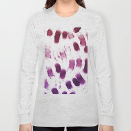 Purple Watercolor Brush Strokes Long Sleeve T-shirt