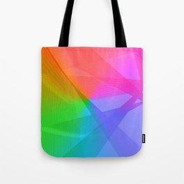 """ life colors"" Rainbow geometric Tote Bag"