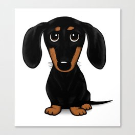 Black and Tan Shorthaired Dachshund Canvas Print