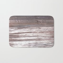 Deep Taupe abstract watercolor Bath Mat