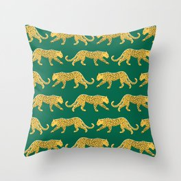 The New Animal Print - Emerald Throw Pillow