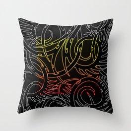 Tribal Fire Throw Pillow