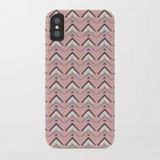 Triangle Geometry Pink Pattern Slim Case iPhone X