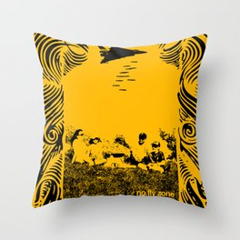 No fly zone. Throw Pillow