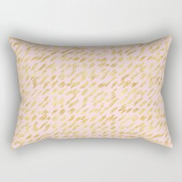 Blush Pink Gold Glitz Abstract Rectangular Pillow