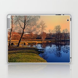 Winter mood on the river IV | waterscape photography Laptop & iPad Skin