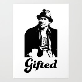 Gifted Micky Blk on Wht Art Print