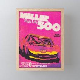 Vintage Miller 500 - Speedway 1971 Framed Mini Art Print