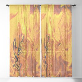Abstract Painting X 5 Sheer Curtain